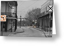No Left Turn - Selective Color Greeting Card
