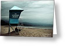 Santa Barbara Life Guard Greeting Card