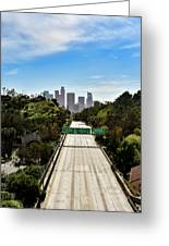 No More Cars In Los Angeles. Greeting Card