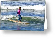 No Stress Surfing Greeting Card