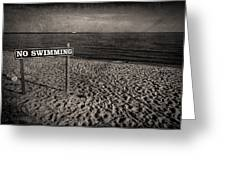 No Swimming Greeting Card