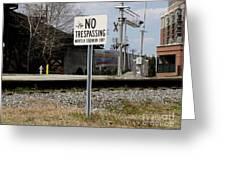 No Trespassing Sign Greeting Card
