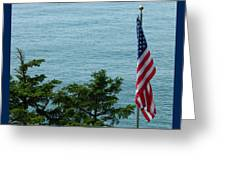 No Wind For Flag Greeting Card