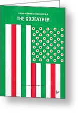 No028 My Godfather Minimal Movie Poster Greeting Card