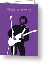 No141 My Eric Clapton Minimal Music Poster Greeting Card
