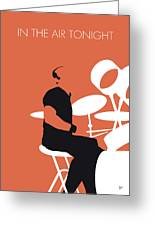 No163 My Phil Collins Minimal Music Poster Greeting Card