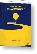No177 My Wizard Of Oz Minimal Movie Poster Greeting Card
