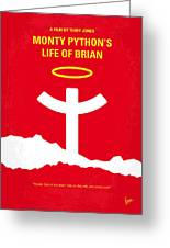 No182 My Monty Python Life Of Brian Minimal Movie Poster Greeting Card
