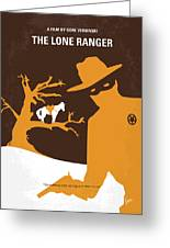 No202 My The Lone Ranger Minimal Movie Poster Greeting Card