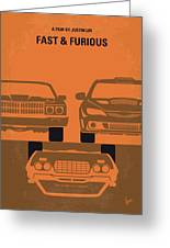 No207-4 My Fast And Furious Minimal Movie Poster Greeting Card