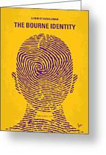 No439 My The Bourne Identity Minimal Movie Poster Greeting Card
