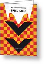 No482 My Speed Racer Minimal Movie Poster Greeting Card