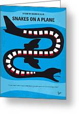 No501 My Snakes On A Plane Minimal Movie Poster Greeting Card