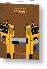 No576 My Face Off Minimal Movie Poster Greeting Card
