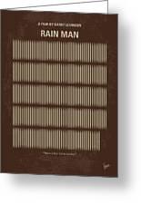 No602 My Rain Man Minimal Movie Poster Greeting Card
