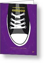 No610 My Footloose Minimal Movie Poster Greeting Card