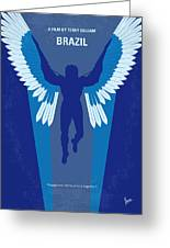 No643 My Brazil Minimal Movie Poster Greeting Card