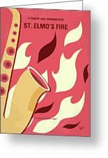 No657 My St Elmos Fire Minimal Movie Poster Greeting Card