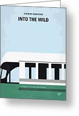 No677 My Into The Wild Minimal Movie Poster Greeting Card