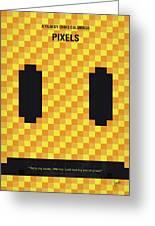 No703 My Pixels Minimal Movie Poster Greeting Card