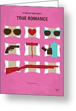 No736 My True Romance Minimal Movie Poster Greeting Card