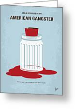 No748 My American Gangster Minimal Movie Poster Greeting Card