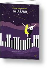 No756 My La La Land Minimal Movie Poster Greeting Card