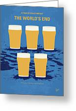No843 My The Worlds End Minimal Movie Poster Greeting Card
