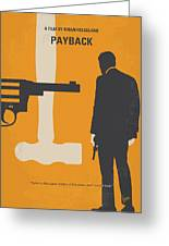 No854 My Payback Minimal Movie Poster Greeting Card