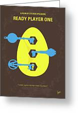 No929 My Ready Player One Minimal Movie Poster Greeting Card
