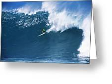 Noah At Waimea Greeting Card by Vince Cavataio - Printscapes