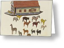 Noah's Ark And Animals Greeting Card