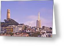 Nob Hill At Sunset Greeting Card