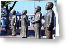 Nobel Square  /  To Honor South Africa's Four Nobel Peace Prize Laureates Greeting Card