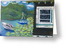 Noble Cottage At The Lake Greeting Card