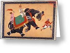 Nobleman Riding Elephant Greeting Card