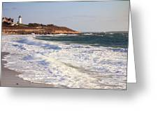 Nobska Point Seascape Greeting Card by Roupen  Baker