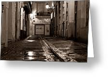 Nocturnal Sound Of Valencia Greeting Card by Silva Wischeropp
