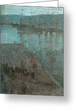 Nocturne In Blue And Gold Valparaiso Greeting Card