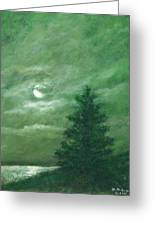 Nocturne In Green Greeting Card