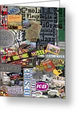 Nola Collage Art Shotgun House Greeting Card