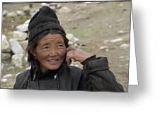 Nomads Of Ladakh Greeting Card