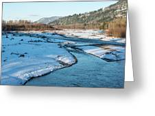 Nooksack River On A December Afternoon Greeting Card