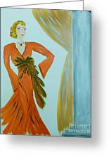 Nora-an Art Deco Lady Greeting Card
