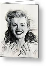 Norma Jean Painting Greeting Card