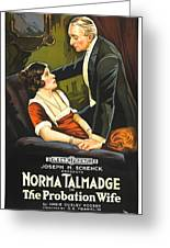Norma Talmadge In The Probation Wife 1919 Greeting Card