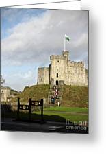 Norman Keep At Cardiff Castle Greeting Card