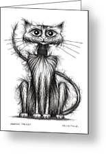 Norman The Cat Greeting Card