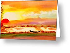 Normandy Fields Greeting Card