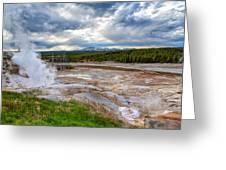 Norris Geyser Basin Greeting Card